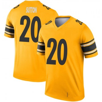 Youth Nike Pittsburgh Steelers Cameron Sutton Gold Inverted Jersey - Legend