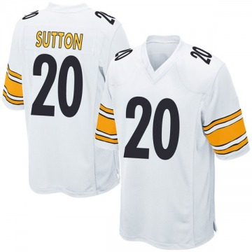 Youth Nike Pittsburgh Steelers Cameron Sutton White Jersey - Game