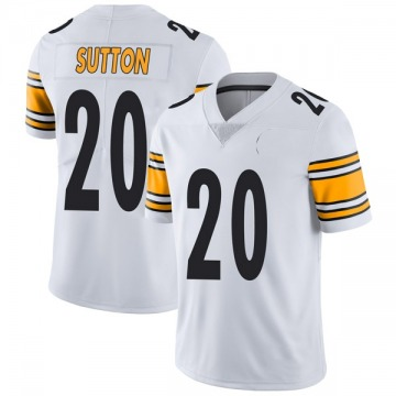 Youth Nike Pittsburgh Steelers Cameron Sutton White Vapor Untouchable Jersey - Limited