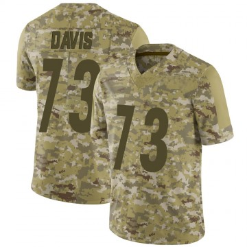 Youth Nike Pittsburgh Steelers Carlos Davis Camo 2018 Salute to Service Jersey - Limited