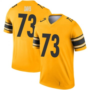 Youth Nike Pittsburgh Steelers Carlos Davis Gold Inverted Jersey - Legend