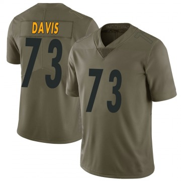Youth Nike Pittsburgh Steelers Carlos Davis Green 2017 Salute to Service Jersey - Limited