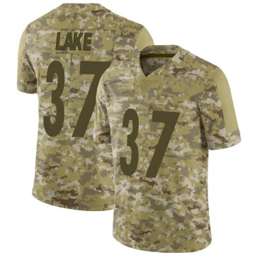 Youth Nike Pittsburgh Steelers Carnell Lake Camo 2018 Salute to Service Jersey - Limited