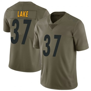 Youth Nike Pittsburgh Steelers Carnell Lake Green 2017 Salute to Service Jersey - Limited