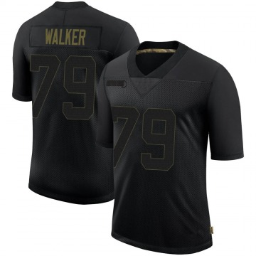 Youth Nike Pittsburgh Steelers Cavon Walker Black 2020 Salute To Service Jersey - Limited