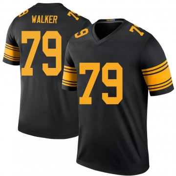 Youth Nike Pittsburgh Steelers Cavon Walker Black Color Rush Jersey - Legend