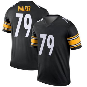 Youth Nike Pittsburgh Steelers Cavon Walker Black Jersey - Legend