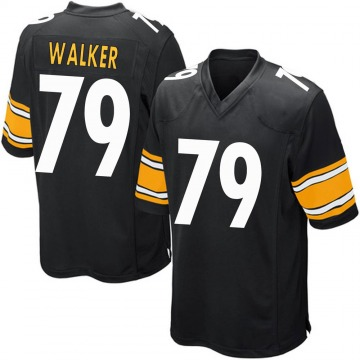 Youth Nike Pittsburgh Steelers Cavon Walker Black Team Color Jersey - Game