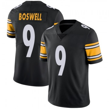 Youth Nike Pittsburgh Steelers Chris Boswell Black 100th Vapor Jersey - Limited