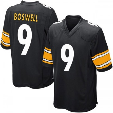 Youth Nike Pittsburgh Steelers Chris Boswell Black Team Color Jersey - Game