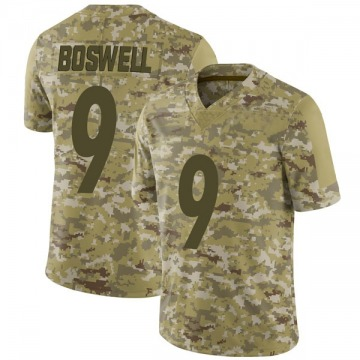 Youth Nike Pittsburgh Steelers Chris Boswell Camo 2018 Salute to Service Jersey - Limited