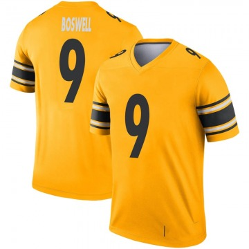 Youth Nike Pittsburgh Steelers Chris Boswell Gold Inverted Jersey - Legend