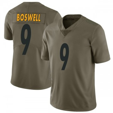 Youth Nike Pittsburgh Steelers Chris Boswell Green 2017 Salute to Service Jersey - Limited