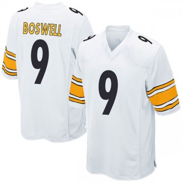 Youth Nike Pittsburgh Steelers Chris Boswell White Jersey - Game