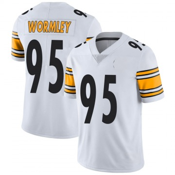 Youth Nike Pittsburgh Steelers Chris Wormley White Vapor Untouchable Jersey - Limited