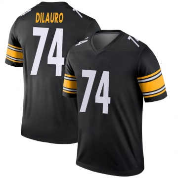 Youth Nike Pittsburgh Steelers Christian DiLauro Black Jersey - Legend