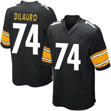 Youth Nike Pittsburgh Steelers Christian DiLauro Black Team Color Jersey - Game