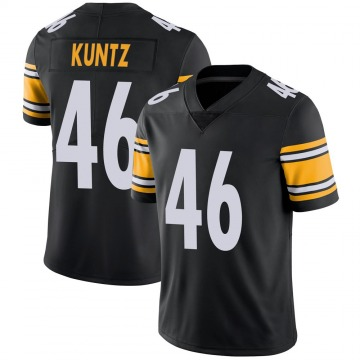Youth Nike Pittsburgh Steelers Christian Kuntz Black 100th Vapor Jersey - Limited