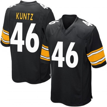 Youth Nike Pittsburgh Steelers Christian Kuntz Black Team Color Jersey - Game