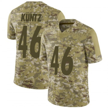 Youth Nike Pittsburgh Steelers Christian Kuntz Camo 2018 Salute to Service Jersey - Limited