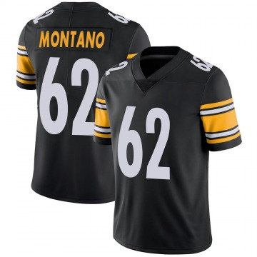 Youth Nike Pittsburgh Steelers Christian Montano Black 100th Vapor Jersey - Limited