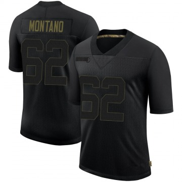 Youth Nike Pittsburgh Steelers Christian Montano Black 2020 Salute To Service Jersey - Limited