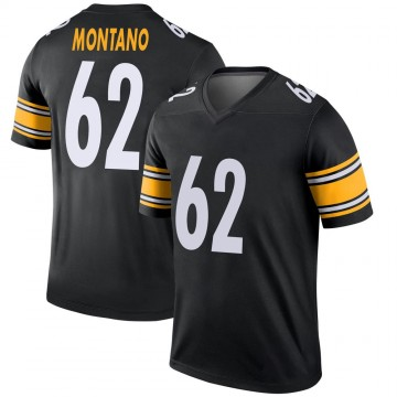 Youth Nike Pittsburgh Steelers Christian Montano Black Jersey - Legend