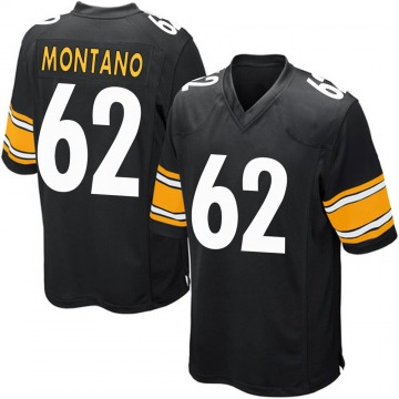 Youth Nike Pittsburgh Steelers Christian Montano Black Team Color Jersey - Game