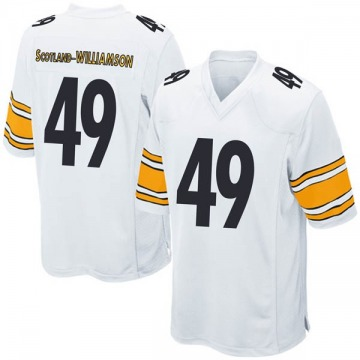 Youth Nike Pittsburgh Steelers Christian Scotland-Williamson White Jersey - Game