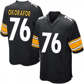 Youth Nike Pittsburgh Steelers Chukwuma Okorafor Black Team Color Jersey - Game