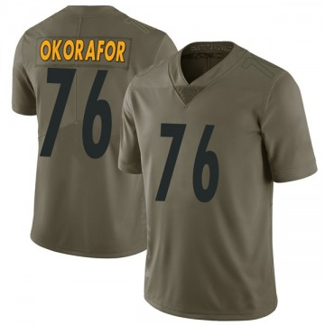 Youth Nike Pittsburgh Steelers Chukwuma Okorafor Green 2017 Salute to Service Jersey - Limited