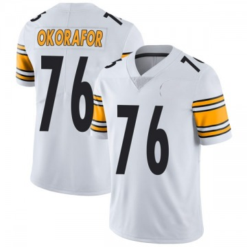 Youth Nike Pittsburgh Steelers Chukwuma Okorafor White Vapor Untouchable Jersey - Limited