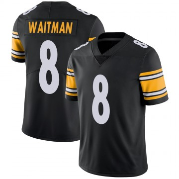 Youth Nike Pittsburgh Steelers Corliss Waitman Black 100th Vapor Jersey - Limited