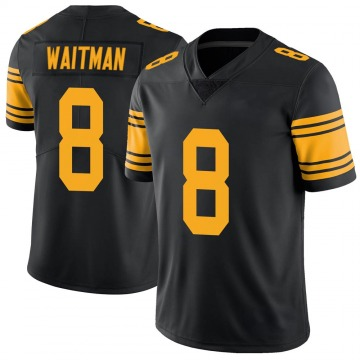 Youth Nike Pittsburgh Steelers Corliss Waitman Black Color Rush Jersey - Limited