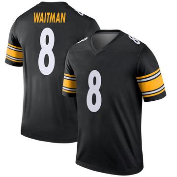 Youth Nike Pittsburgh Steelers Corliss Waitman Black Jersey - Legend