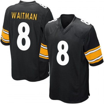 Youth Nike Pittsburgh Steelers Corliss Waitman Black Team Color Jersey - Game