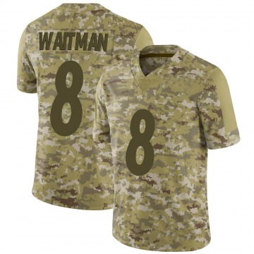 Youth Nike Pittsburgh Steelers Corliss Waitman Camo 2018 Salute to Service Jersey - Limited