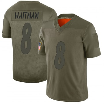 Youth Nike Pittsburgh Steelers Corliss Waitman Camo 2019 Salute to Service Jersey - Limited