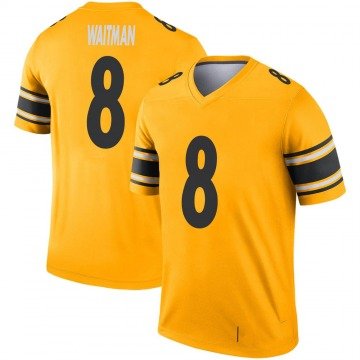 Youth Nike Pittsburgh Steelers Corliss Waitman Gold Inverted Jersey - Legend