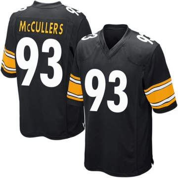 Youth Nike Pittsburgh Steelers Dan McCullers Black Team Color Jersey - Game
