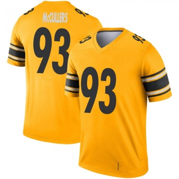 Youth Nike Pittsburgh Steelers Dan McCullers Gold Inverted Jersey - Legend