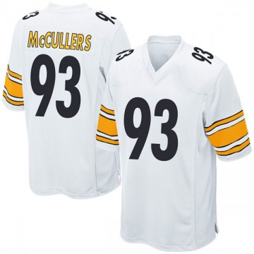 Youth Nike Pittsburgh Steelers Dan McCullers White Jersey - Game
