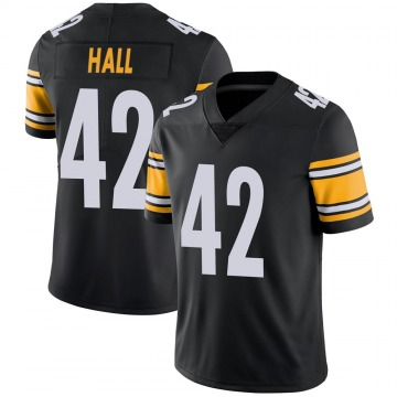 Youth Nike Pittsburgh Steelers Darrin Hall Black 100th Vapor Jersey - Limited
