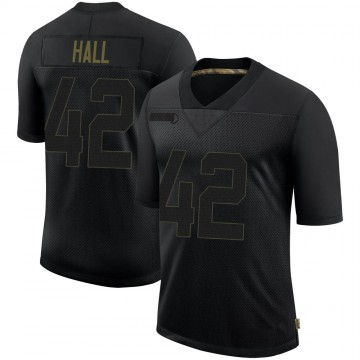 Youth Nike Pittsburgh Steelers Darrin Hall Black 2020 Salute To Service Jersey - Limited