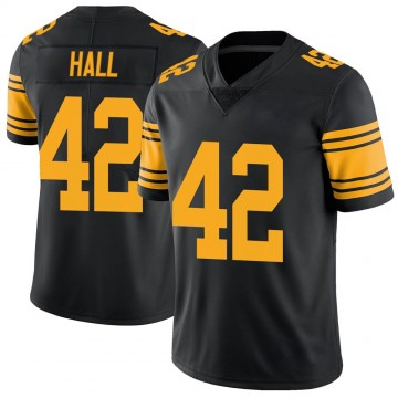 Youth Nike Pittsburgh Steelers Darrin Hall Black Color Rush Jersey - Limited