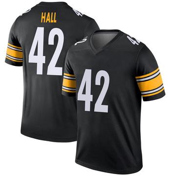 Youth Nike Pittsburgh Steelers Darrin Hall Black Jersey - Legend