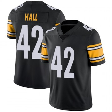 Youth Nike Pittsburgh Steelers Darrin Hall Black Team Color Vapor Untouchable Jersey - Limited