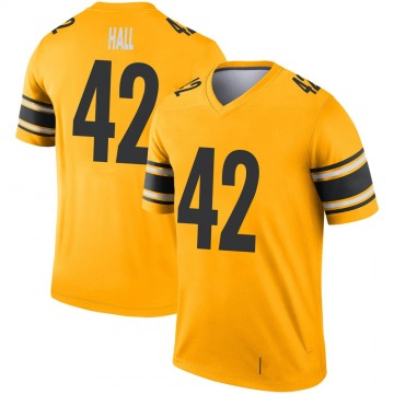 Youth Nike Pittsburgh Steelers Darrin Hall Gold Inverted Jersey - Legend