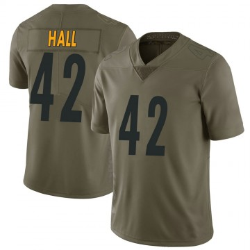 Youth Nike Pittsburgh Steelers Darrin Hall Green 2017 Salute to Service Jersey - Limited