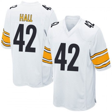 Youth Nike Pittsburgh Steelers Darrin Hall White Jersey - Game